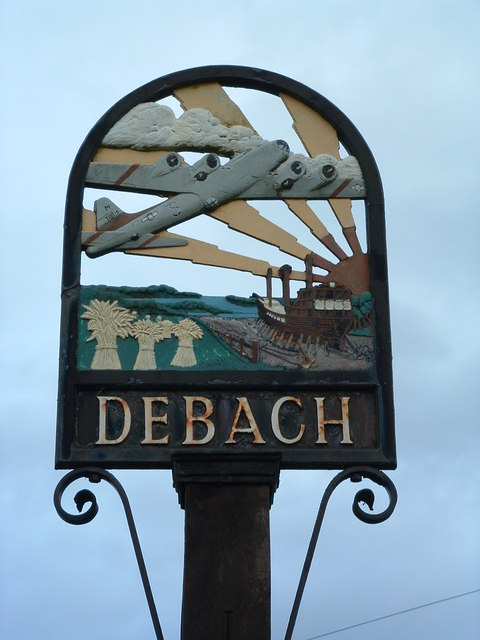 Debach Village Sign (Detail)