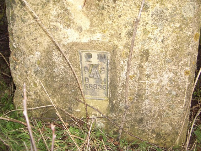 Bench Mark on Trig Point near Lavendon Wood