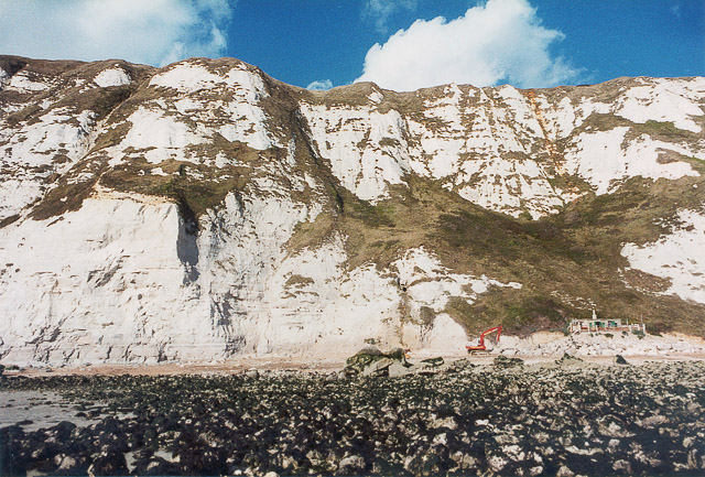 Beach hut and cliffs east of Abbot's Cliff, nr Dover