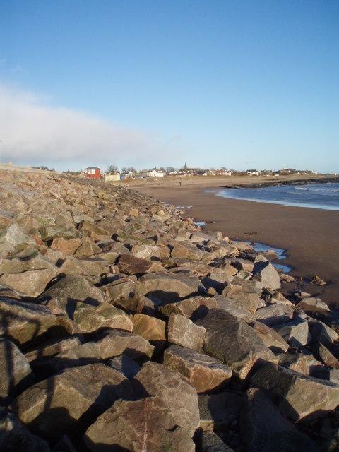 Coastal defences Carnoustie Beach