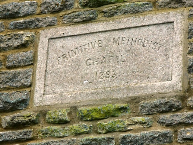 Plaque in front wall of Former Primitive Methodist Chapel, Minster Lovell