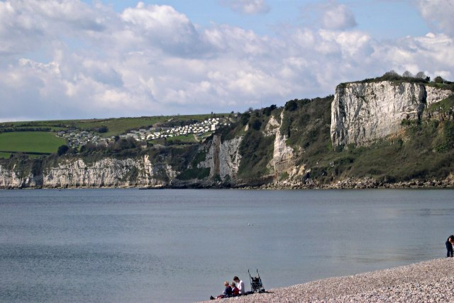 Beer Cliffs from Seaton Seafront