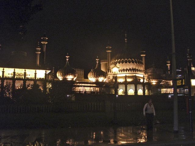 Royal Pavilion. Brighton, at Night