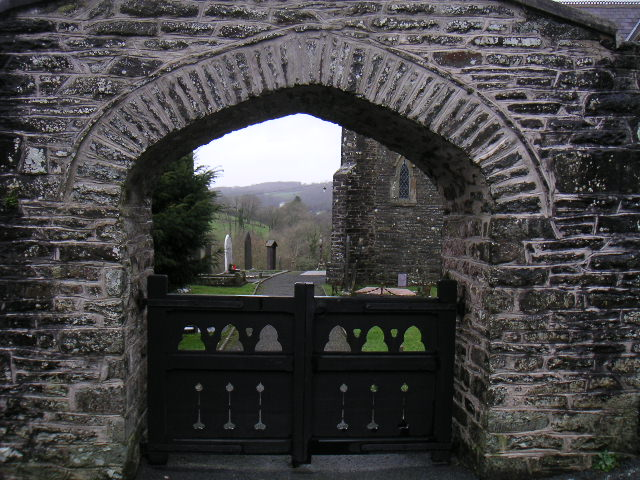 church gate - Capel Dewi