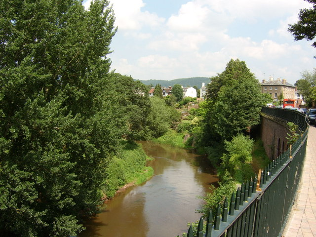The River Monnow at Monmouth