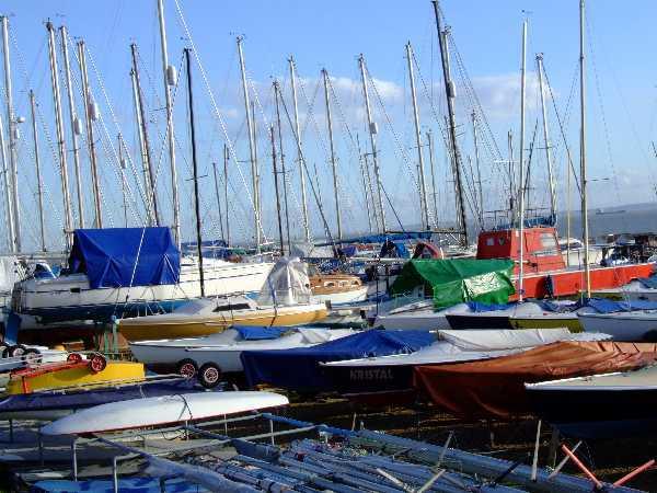 Yachts on Shoebury Common