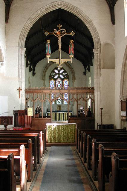 St Peter, Yaxham, Norfolk - East end