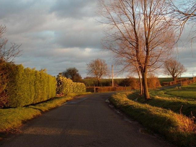 Country road heading towards Finchingfield