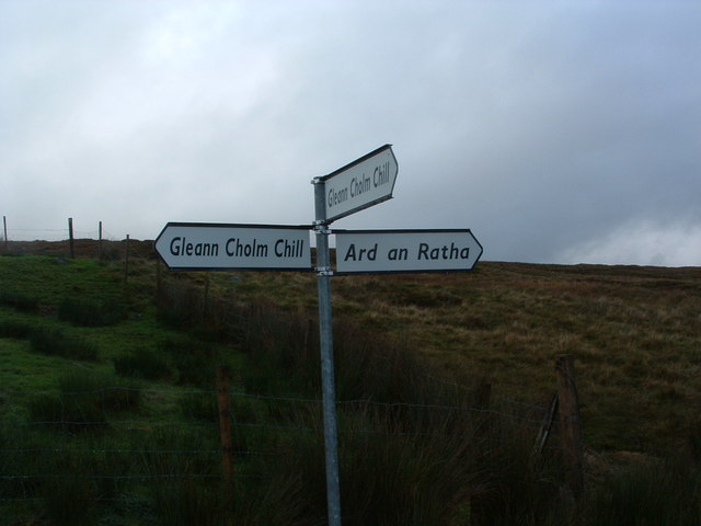 Glean Cholm Chill Road Sign