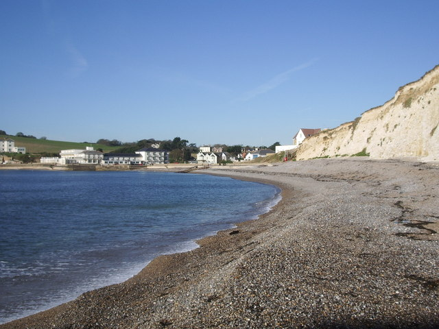 Freshwater Bay and Albion Hotel.