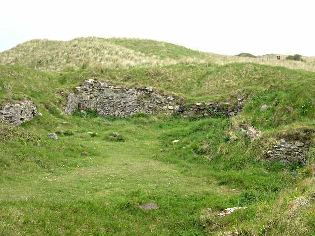 Remains of St Piran's Old Church