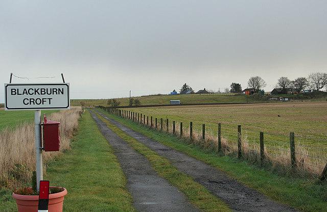 The lane to Blackburn Croft.