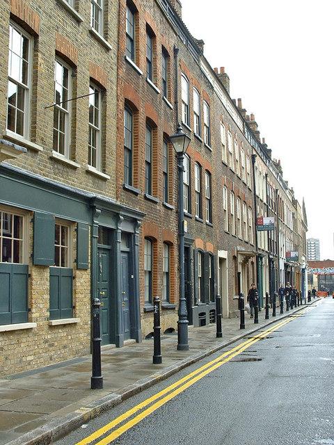 Fournier Street, Spitalfields, looking east