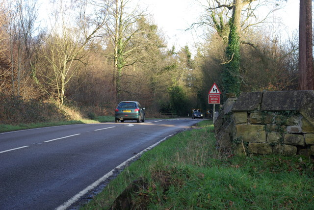Bend on A264 east of Hammerwood Church