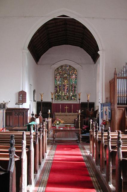All Saints, East Tuddenham, Norfolk - East end