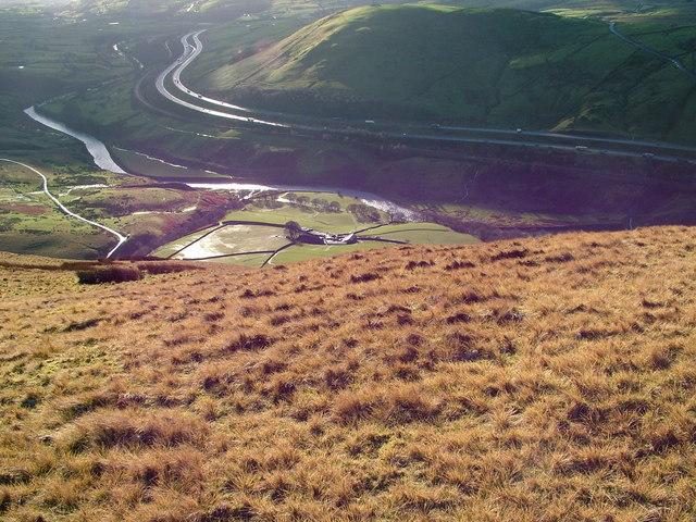 Low Carlingill Farm from Blease Fell