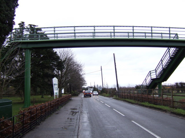 Footbridge over the A415 at Josca's School