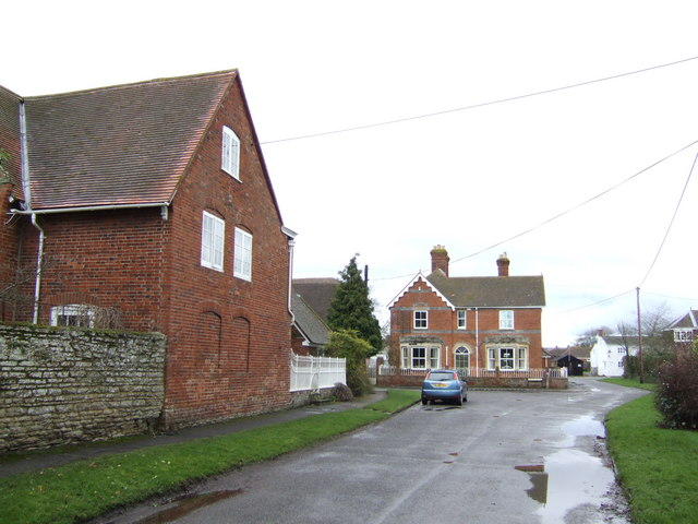 Brick houses in East Hanney