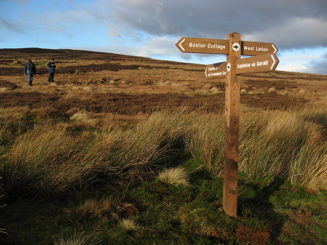 Crossroads, with signpost