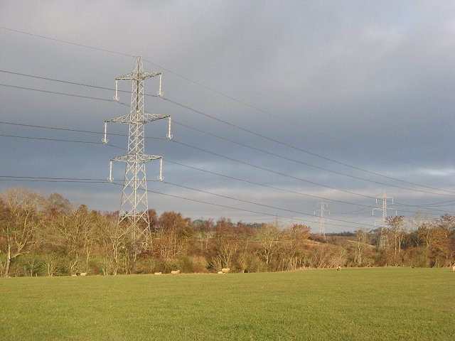 Powerlines above Rough Haugh