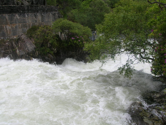 Weir leading from Loch Morar