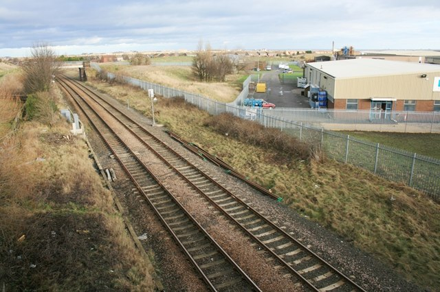 Railway Line and Industrial Estate