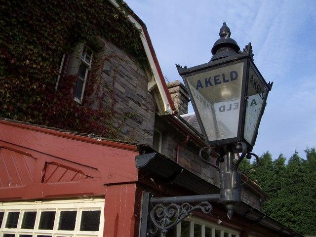 Lamp at Former Akeld Railway Station