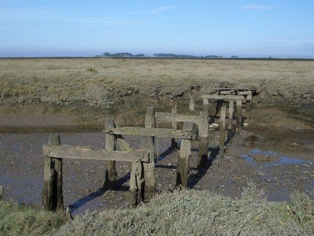 Remnants of Footbridge to Salt Marshes