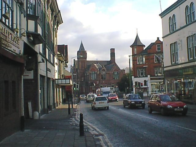 Chesterfield - Holywell Street view towards Museum
