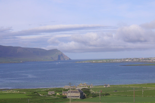 Mill and Hall of Ireland, Stenness with Hoy and Stromness in the background