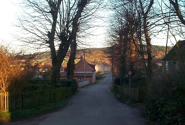 View towards Upper Sheringham Village from Park road.