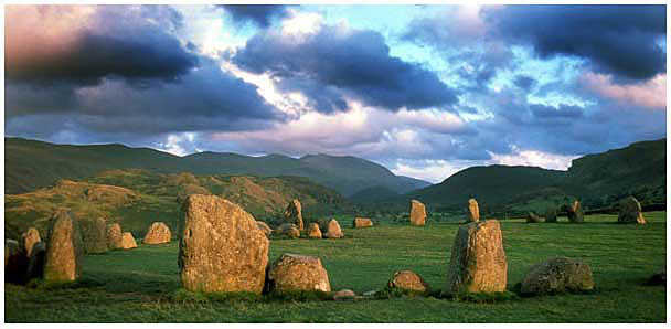 Castlerigg Stone Circle, summer evening