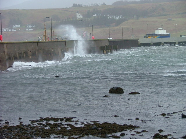 Stormy Day at Uig Pier