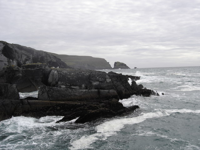 Rock Formation on North West edge if Mizen Peak