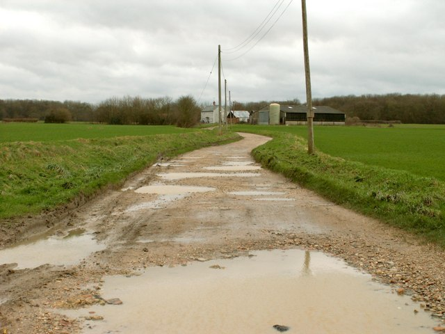 Public Footpath leading to Howe Farm