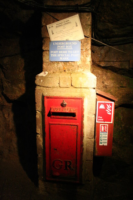 Poldark Mine Underground Post Box
