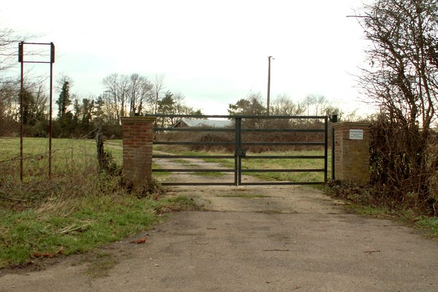 Entrance to a private shooting ground