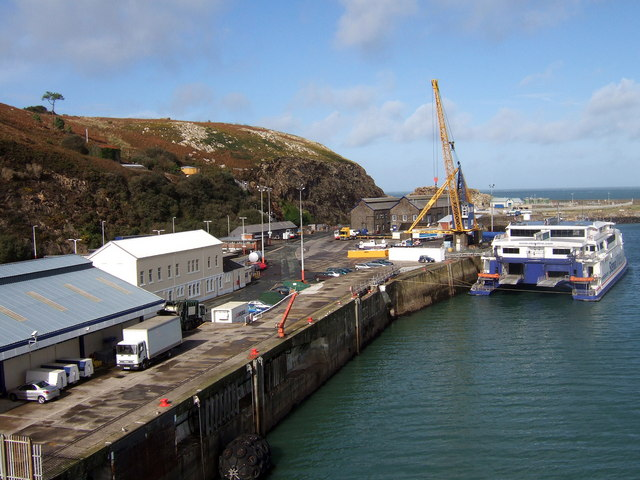 The quay at Fishguard ferryport