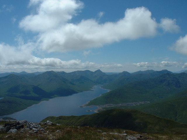Loch Quoich from Gleouraich
