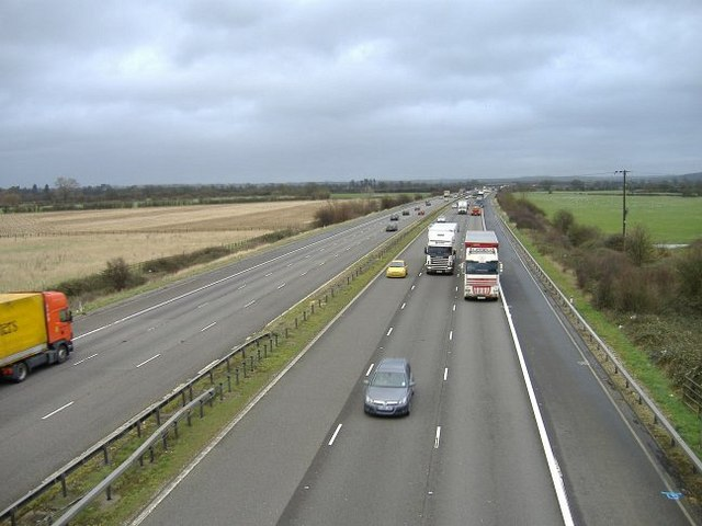 The M4 near Dodford farm