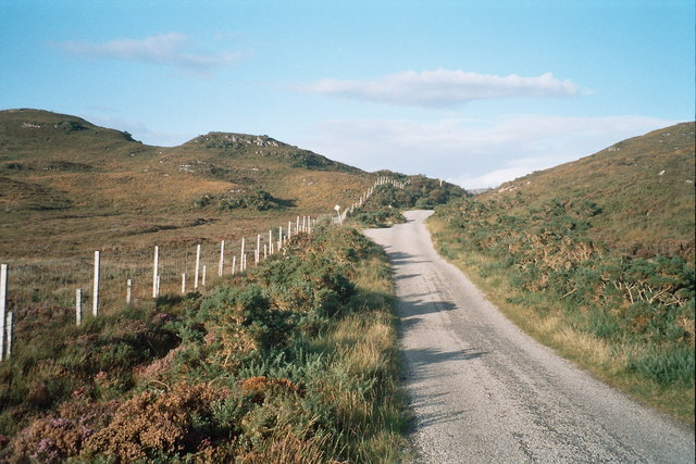 Wee Mad Road near Loch an Arbhair