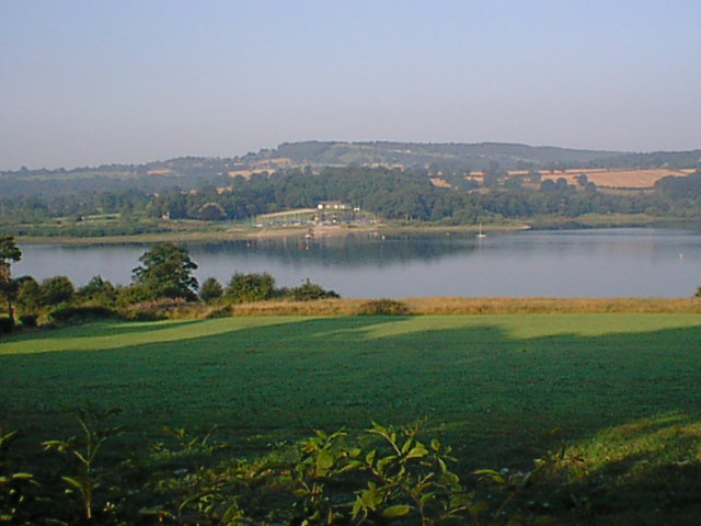 Ogston - View of Sailing Club from South Hill
