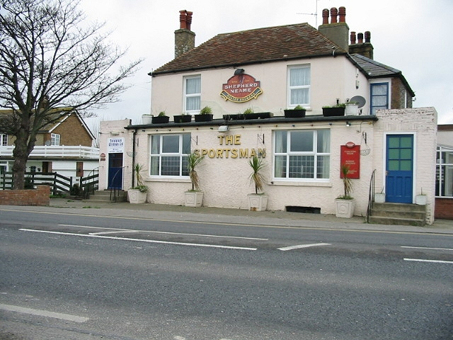 The Sportsman, Sandwich road, Pegwell Bay.