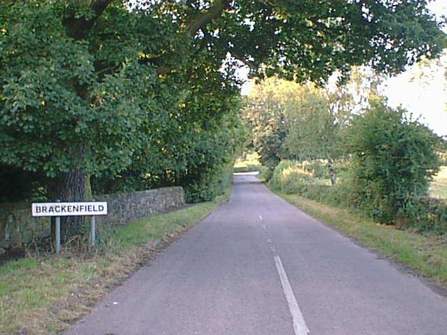 Ogston New Road entering Brackenfield