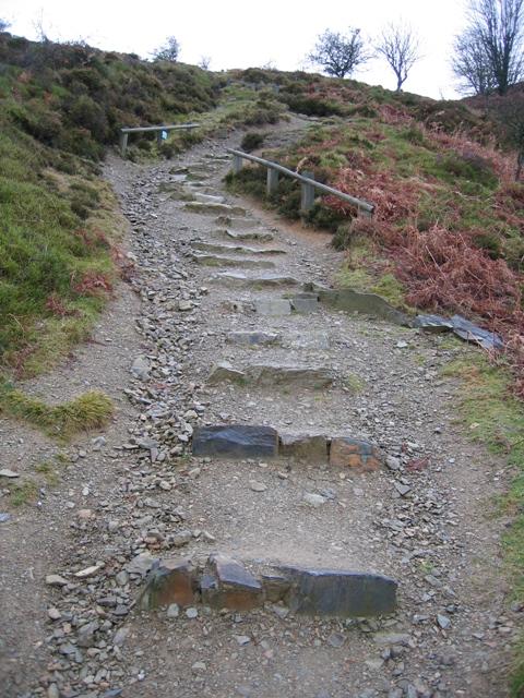 Stairway to Moel Famau
