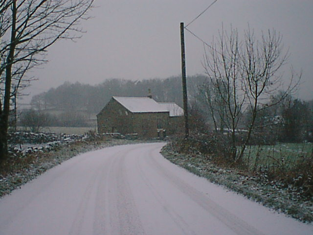 Woolley Methodist Chapel - Snowscene