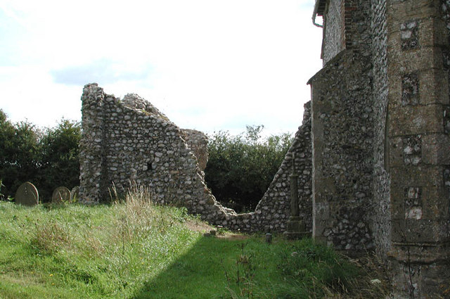 St John the Baptist, Aylmerton, Norfolk - ruins