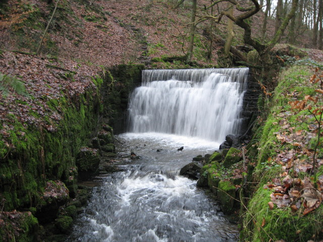 Waterfall in Woodhey Valley