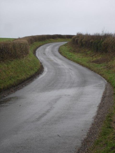 Uphill road near Bowerchalke