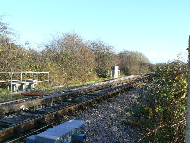 Railway into Swindon from Gloucester